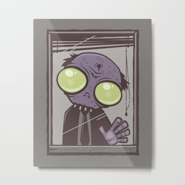 Office Zombie Metal Print