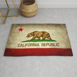 California Republic Retro Flag Rug