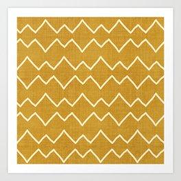 Urbana in Gold Art Print