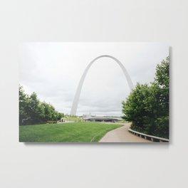 Gateway Arch Metal Print