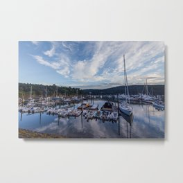 USA Acadia National Park park Berth Yacht Sailing speedboat Cities Parks Pier Marinas Motorboat powerboat Metal Print
