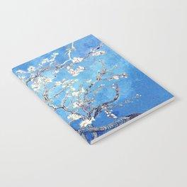 Vincent Van Gogh Almond Blossoms. Sky Blue Notebook