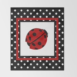 Ladybug And Polkadots Throw Blanket
