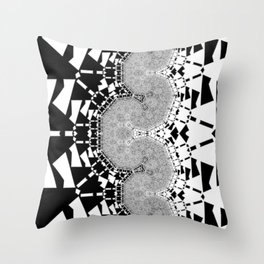 Black & White _ Quartz Center Throw Pillow