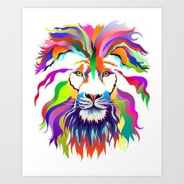The Lion of Technicolor Art Print