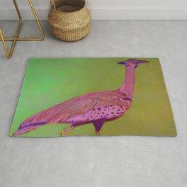 amazing pink bird Rug