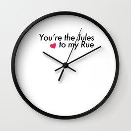 Jules and Rue Young Love Wall Clock