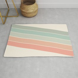 Trippin' - retro 70s socal minimal striped abstract art california surfing vintage Rug