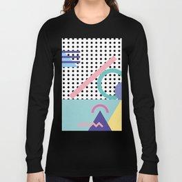 Memphis Pattern 5 - 80s - 90s - Retro Long Sleeve T-shirt