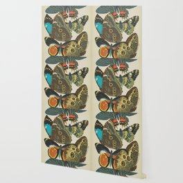 Art Nouveau Butterfly Wallpaper