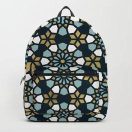 Persian Mosaic – Teal & Gold  Backpack