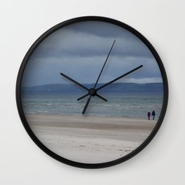 Figures on The Beach at Nairn, Scotland Wall Clock