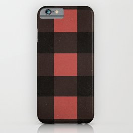 Distressed Buffalo Plaid (RED) iPhone Case