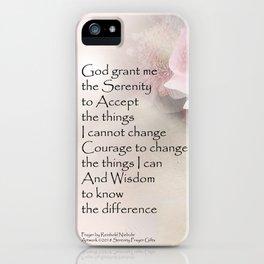 Serenity Prayer Pink Bouquet iPhone Case