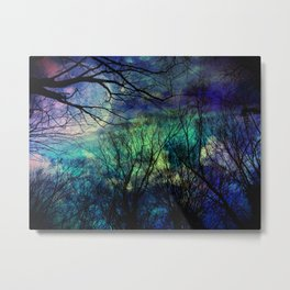 misitc night in the forest Metal Print