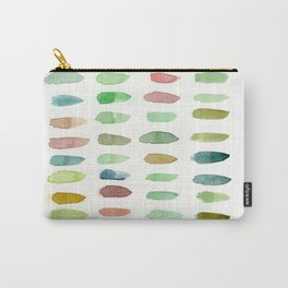 Verdant Brush Lines Carry-All Pouch