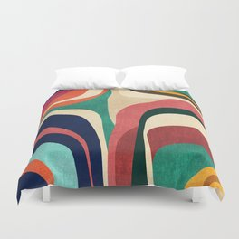 Impossible contour map Duvet Cover