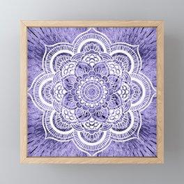 Mandala Lavender Colorburst Framed Mini Art Print