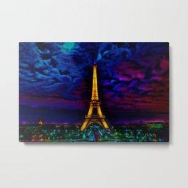 Paris Starry Night by Jeanpaul Ferro Metal Print