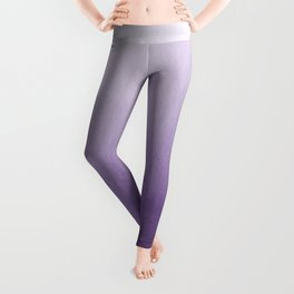 Inspired by Pantone Chive Blossom Purple 18-3634 Watercolor Abstract Art Leggings