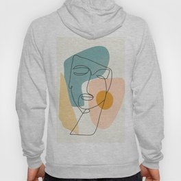 Abstract Face 25 Hoody