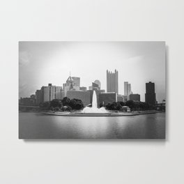 B&W Pittsburgh Metal Print
