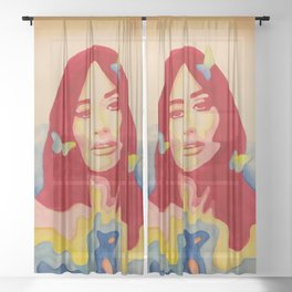 You Give Me Butterflies Spacey Kacey Sheer Curtain