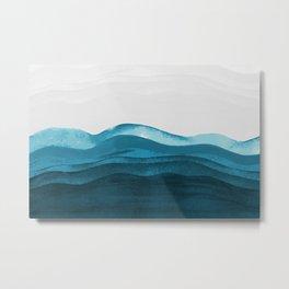Ocean waves paint Metal Print