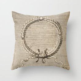 Hugo de Groot's Syntagma Arateorum 1600 - 03 Corona Throw Pillow