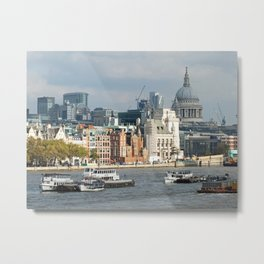 London Thames - Saint Pauls Metal Print