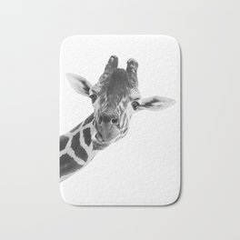 Giraffe Portrait // Grey Wild Animal Cute Zoo Safari Madagascar Wildlife Nursery Decor Ideas Bath Mat