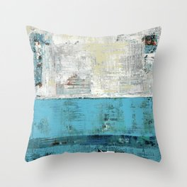 Fairbanks Abstract Light Blue White Throw Pillow