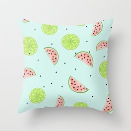 Lime Watermelon Throw Pillow