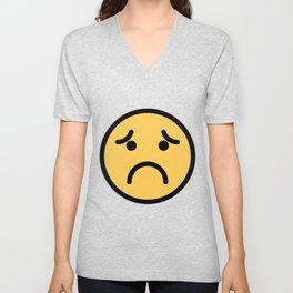Smiley Face   Super Sad Unisex V-Neck