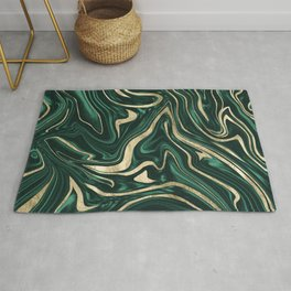 Emerald Green Black Gold Marble #1 #decor #art #society6 Rug