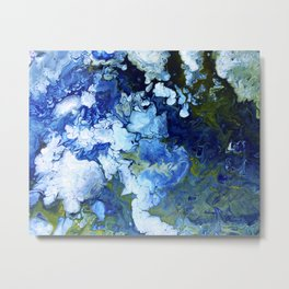 Abstract Nature Acrylic Pour Metal Print