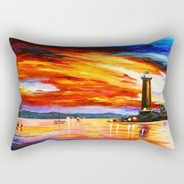 Light Art Tower Rectangular Pillow