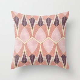 Pink Deco Shine Throw Pillow