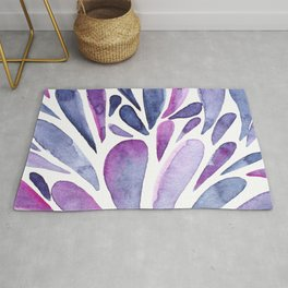 Watercolor artistic drops - purple and indigo Rug