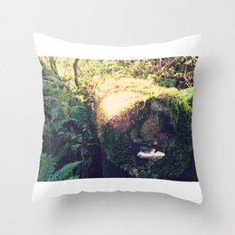 Colonized Log Throw Pillow