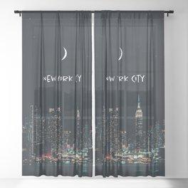 New York City Sheer Curtain