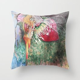 Plight of the Honey Bee Throw Pillow