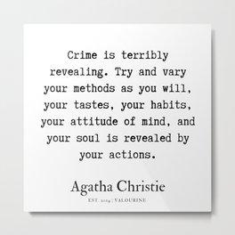 67   | Agatha Christie Quotes | 190821 Metal Print