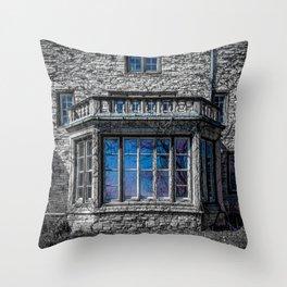 H. Clarke Mansion Evanston Illinois Bay Window Lakeside  Throw Pillow