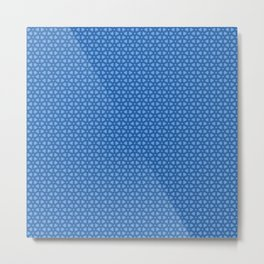 Blue icy and snowy conceptional background pattern Metal Print