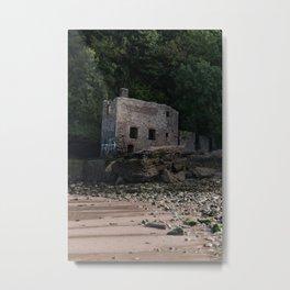 Elberry Cove Bath House Metal Print