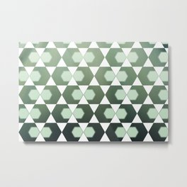 Geometrical exagons pattern Metal Print