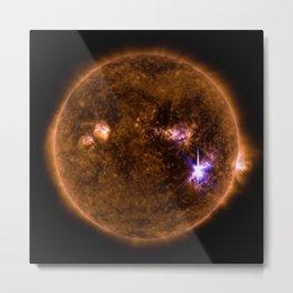 Solar Flares, Sept. 4, 2017 Metal Print