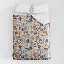 Critter Pattern 3 Comforters