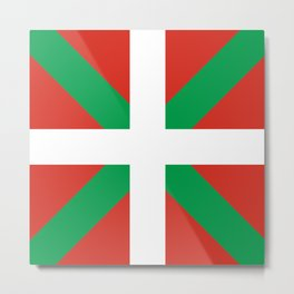 Basque Country: Euskaldun Flag Metal Print